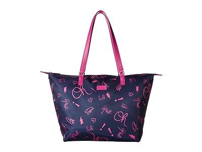 Lipault Paris Comic Trip Medium Tote Bag (Oh La La) Tote Handbags