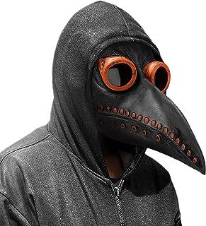 Achort Maschera del Medico della Peste, Cosplay Maschera Steampunk Oggetti di Scena di Halloween Maschera Uccelli in Latti...