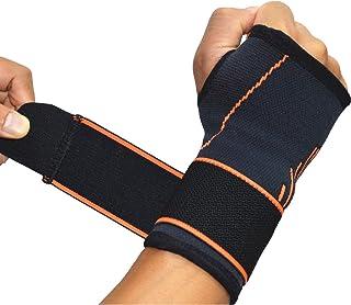 Ajustable Muñeca Apoyo Wrap férulas de compresión media manga con el pulgar Palma túnel carpiano muñequera para artritis Tendinitis alivio negro