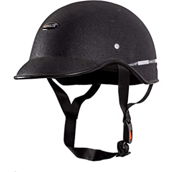 Habsolite HB-MWB1 Mini Wrinkle All Purpose Safety Helmet with Quick Release Strap for Men & Women (Black, Free Size)