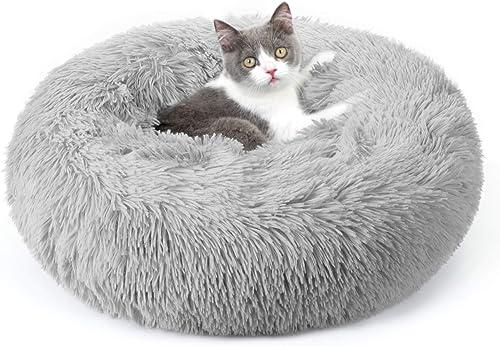 rabbitgoo Cama Gato Perro Antiestres, Cama para Gatos Relajante Cama de Gato con Felpa Suave, Cama Mascota para Dormi...