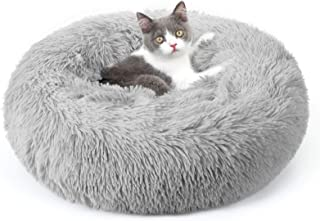 rabbitgoo Dog Bed for Small Dogs, Donut Calming Cat Bed, Deep Sleeping 50cm Fluffy Round Soft Plush Pet Bed, Machine Washa...