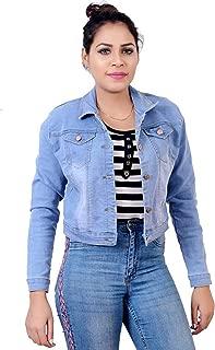 G.S.A ENTERPRISES Women's Full Sleeve Light Denim Jacket