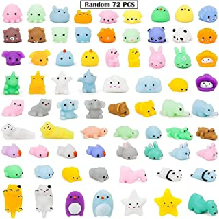 72pcs Squeeze Toys,Mochi Squishy Toys,Soft Squishy Elastic Toy,Stress Relieve Squeeze Toys Anti Stress Squeeze Mini Animal...