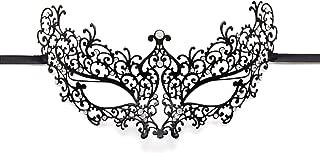 Luxury Masquerade Mask for Women Metal Rhinestone Eye Mask Mardi Gras