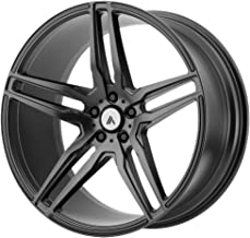 ASANTI BLACK ABL-12 ORION Matte Graphite Wheel with Gray and Chromium (hexavalent compounds) (22 x 10.5 inches /5 x 72 mm, 35 mm Offset)