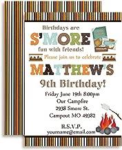 S'Mores Custom & Personalized Birthday Party Invitation, Twenty 5