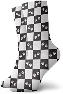 Vintage Dog Paw French Bulldog1 Pattern Socks Colorful Cool Sport Travels Calcetines For Men & Women