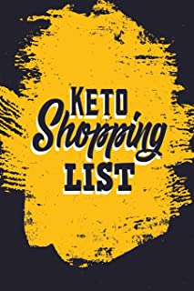 Keto Shopping List: Blank Lined Journal Notebook (6 x 9) 120 Pages for Grocery Shopping List