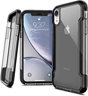 X-Doria iPhone XR Case, Defense Clear Series - Military Grade Drop Protection, Shock Protection, Clear Protective Case iPhone XR, 6.1 Inch LCD Screen (Black)