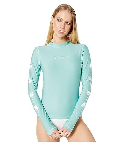 Billabong Core Loose Fit Long Sleeve Rashguard (Seafoam) Women