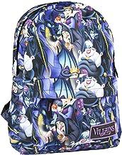 Mochila Escolar de Las Villanas de Disney con Licencia Oficial para Jóvenes y Adultos 44 cm, Color Azul