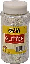 School Smart Snow Glitter with Shaker Tops, 7 Ounce Jar, Silver