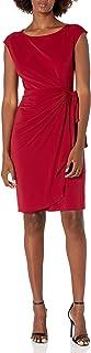 Lark & Ro Amazon Brand Women's Cap Sleeve Bateau Neck Wrap Dress