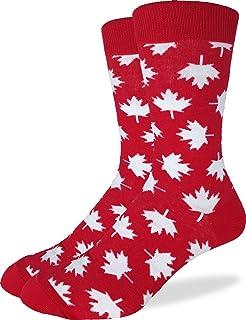 499e4666826 Good Luck Sock Men s Canada Maple Leaf Crew Socks - Red