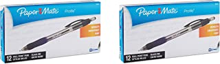 Paper Mate Profile Retractable Ballpoint Pens, Bold Point 1.4mm, Black Ink, 2-Dozens