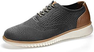 SEVEGO Tenis de Malla de Punto Oxford, cómodos Zapatos de Vestir Casuales, Ligeros y Transpirables para Caminar