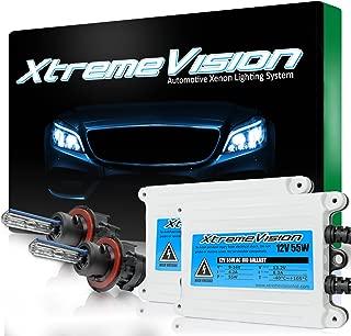 XtremeVision 55W AC Xenon HID Lights with Premium Slim AC Ballast - Bi-Xenon H13 / 9008 10000K - 10K Dark Blue - 2 Year Warranty