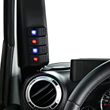 u-Box Jeep Wrangler JK Left Side A-Pillar 4-Switch Pod (Jeep Wrangler JK 2011-2018)