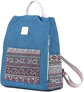 Wujianzzhobb حقيبة ظهر رياضية، حقيبة ظهر نسائية من القماش ، حقائب مدرسية للسيدات حقيبة ظهر للكمبيوتر المحمول الإناث ، حقائ...