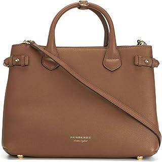 BURBERRY Mujer 402369521600 Bolso de mano de piel marrón
