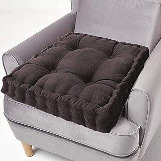ping bu Cojín de algodón para asiento elevador, grueso cuadrado, cojines de asiento grandes, firmes de 50 cm para sillón, jardín, silla de adultos (45 x 45 cm, gris oscuro)