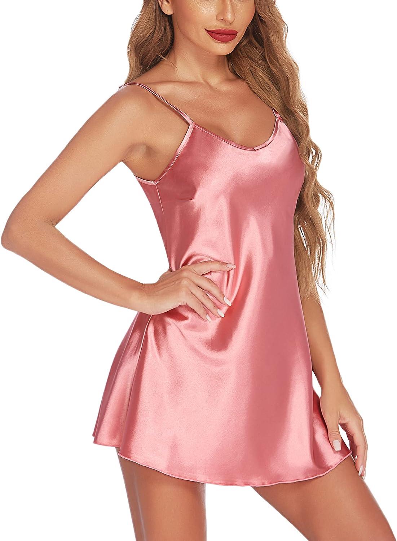 Avidlove Women Sleepwear Satin Nightgown Mini Slip Chemise Short Nightwear