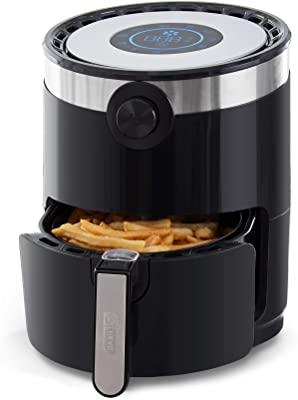 Dash DMAF360GBBK02 Aircrisp Pro Air Fryer + Oven Cooker with Digital Display + 8 Presets, Temperature Control, Non Stick Fry Basket, Recipe Guide + Auto Shut Off Feature, 3qt, Black
