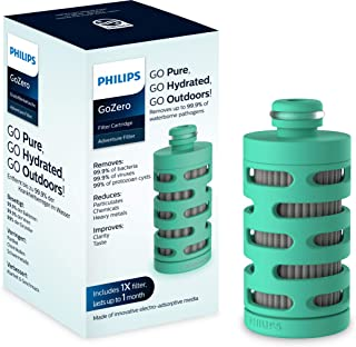 Philips GoZero adventure Cartouche Filtrante AWP295 x3 pour Gourde Philips GoZero Active - Filtre les Bactéries, Virus et ...