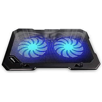 TopMate Enfriador de portátil C302 10-15.6 | Ultra Delgado portátil 2 Ventiladores Grandes silenciosos 1300RPM con línea USB incorporada | Diseño Simple y fácil de Usar