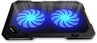 TopMate C302 10-15.6 Laptop Cooler Cooling Pad | Ultra Slim Portable 2 Quiet Big Fans 1300RPM with USB Line Built in | Sim...