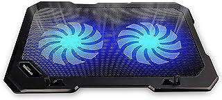TopMate C302 10-15.6 Tapis de Refroidissement pour Ordinateur Portable | Ultra Slim Portable 2 Gros Ventilateurs Silencieu...