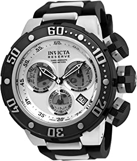 Men's Reserve Stainless Steel Swiss-Quartz Watch with Silicone Strap, Black, 30 (Model: 21640)