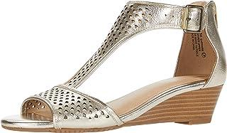 Aerosoles Women's Wedge Sandal, GOLD, 7.5
