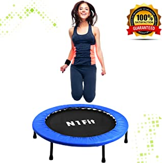 N1Fit Mini Trampoline for Adults - Exercise Trampoline, Mini Trampolines, Personal Trampoline, Trampoline Small Indoor, Rebounding Tiny Trampoline with Springs System for Home Cardio Workouts 40