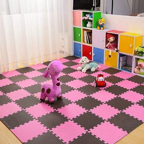 LFY Kinder-Puzzle-Spielmatte, Größe Schaumgummimatten (Farbe   B, Größe   40 Piece)