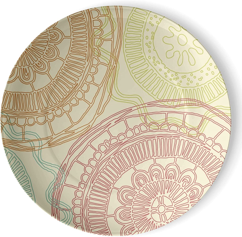 gaeruite Bohemia Boho Decorative Ceramic Printed 3D 2021 Wall S Challenge the lowest price Plate