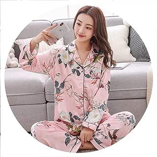 Satin Pajama Sets Long Sleeve Print Sexy Pijama Silk Pyjamas Home Suit Tracksuit