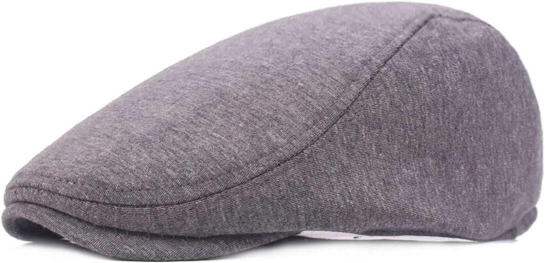 Women Berets Cotton British Vintage Flat Caps Gatsby Solid Gray Black Spring Autumn Winter Adjustable Driver Hats