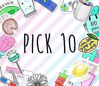 Pick 10 Sticker Pack