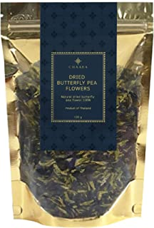 CHAABA Dried Butterfly Pea Flower - Butterfly flower with thai tea leaves for blue thai tea mix, 4.59 oz.