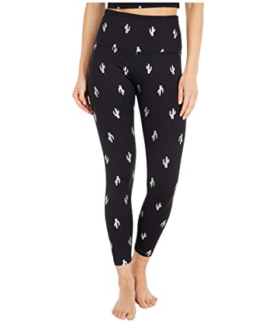Beyond Yoga Cactus High-Waisted Midi Leggings (Black/Silver) Women