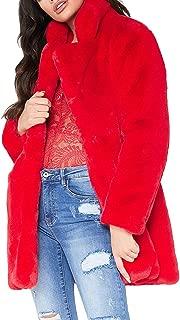 Best faux fur coat red Reviews