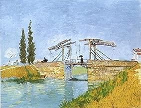 AED200-8K Hand Painted by College Teachers - 29 van Gogh Paintings - The Langlois Bridge Vincent van Gogh landscape VVG2 LEWE4 - Art Oil Painting on Canvas -Size01