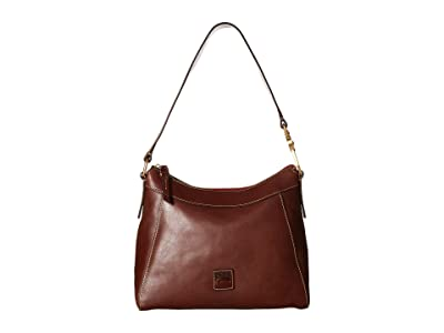 Dooney & Bourke Florentine Classic Large Cassidy Hobo (Chestnut/Self Trim) Hobo Handbags