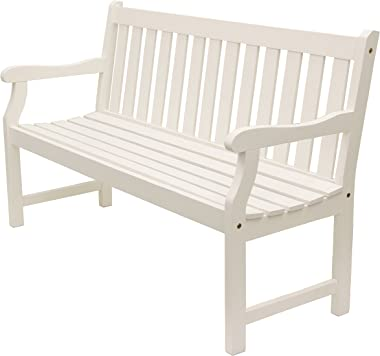 Décor Therapy FR8587 Outdoor Bench, White