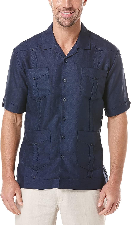 Cubavera Men's Short Sleeve Traditional Cuban Camp Guayabera Shirt