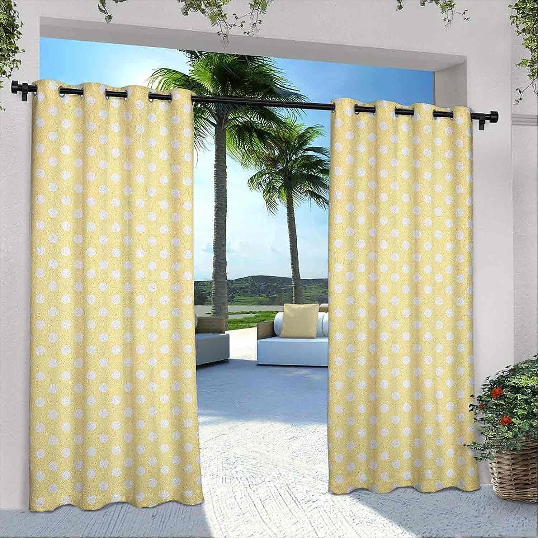 Outdoor Max 81% OFF Pavilion Polka Dots Nostalgic Seasonal Wrap Introduction Curtain Pastel