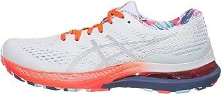 ASICS Women's Gel-Kayano 28 Running Shoes, 8, White/Thunder Blue