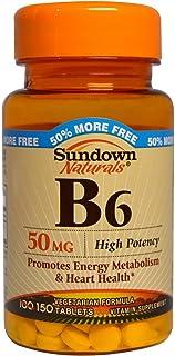 Sundown Naturals Vitamin B-6 50 Mg, 150 Count